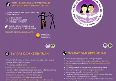 Lomba Tik Tok World Vitiligo Day 2021